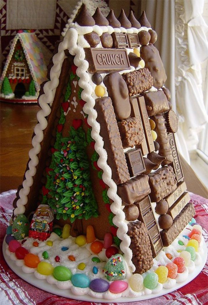 a tasty chocolate tiled roof